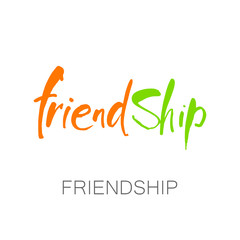 friendship lettering template