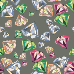 Precious stones with geometric shapes