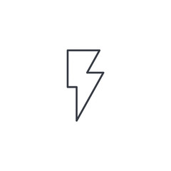 Lightning, electricity thin line icon. Linear vector illustration. Pictogram isolated on white background