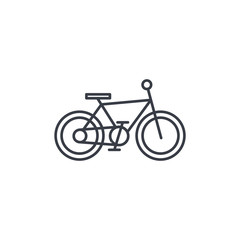 Bicycle, bike thin line icon. Linear vector illustration. Pictogram isolated on white background