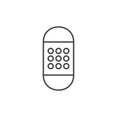 Medical adhesive bandage thin line icon. Linear vector illustration. Pictogram isolated on white background