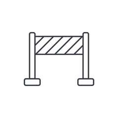 fence construction thin line icon. Linear vector illustration. Pictogram isolated on white background
