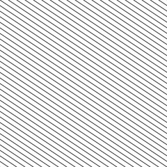 Vector seamless stripes pattern. Thin diagonal lines texture, black and white