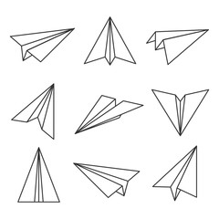 Paper plane outline