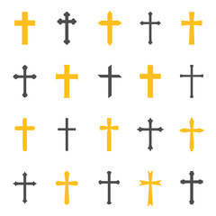 Religious cross symbol