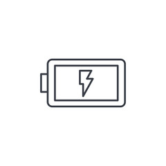 battery charge full thin line icon. Linear vector illustration. Pictogram isolated on white background