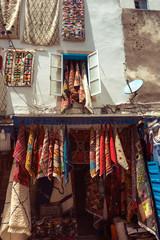 bazaar shop handmade carpets hangs. Carpet