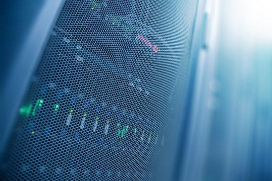 Server internet datacenter room, network, technology concept background, Server is the internet equipment for many purposes. Data center is the server control center for internet provider.