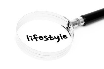 Lifestyle searching with magnifier