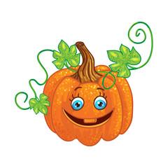 Halloween character pumpkin isolated one