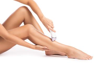 Female legs and epilator