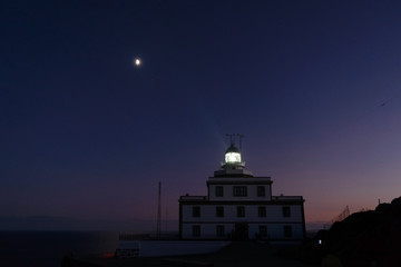 moon over the lighthouse