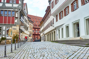 Traditional housing of Esslingen in Germany / First known row of half-timbered houses in Germany - 14th century: 1328 - 1331