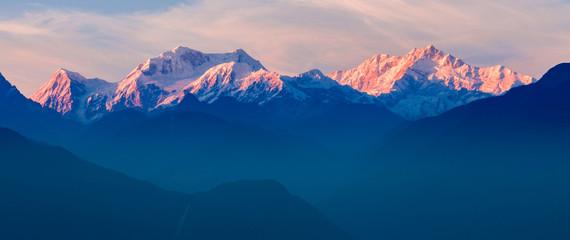 Fototapeta Kangchenjunga mountain view obraz