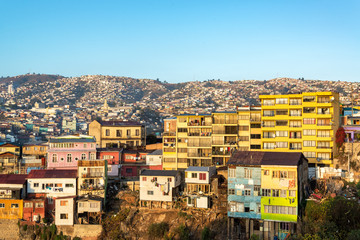 Fototapete - Valparaiso and Golden Light