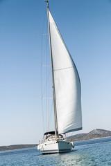 Sailboat on the move, Adriatic Sea