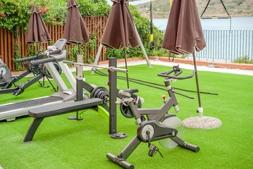 Gym on the terrace by the sea