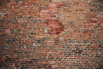 Brick old texture wall for background design or abstract photo