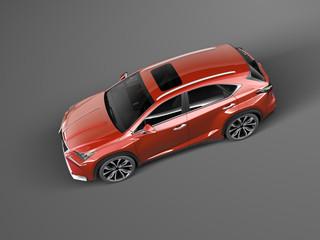 Modern Car on dark background