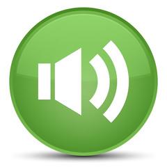 Volume icon special soft green round button