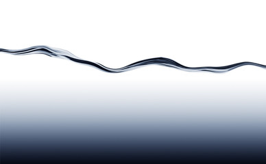 Blue flowing water wave with deep water gradient