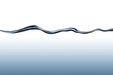 Blue flowing water wave with deep water gradient