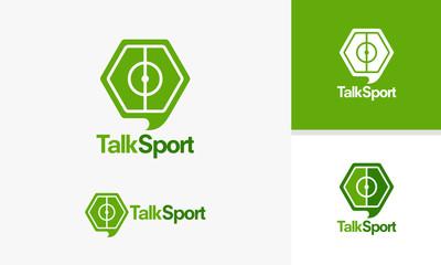 Talk Sport logo template, Sport News designs, Sport Review logo designs vector