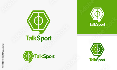Talk Sport logo template, Sport News designs, Sport Review logo ...
