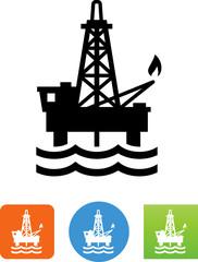 Oil Rig Icon - Illustration