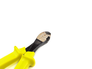 Wire cutter isolated on white background