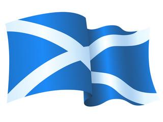 Waving Scottish Flag