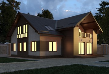 House 3d Illustration
