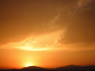 Colorado Orange Sunset