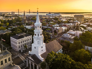 Charleston from the air Wall mural
