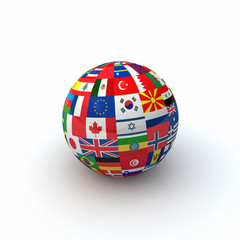 World Flags Sphere Two