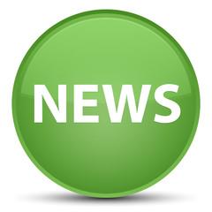 News special soft green round button