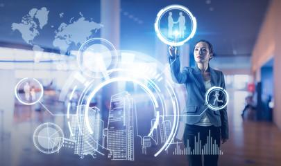 futuristic interface. smart city and future lifestyle.