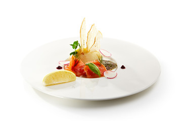 Specialties of the luxury restaurant