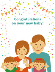 congratulations on your new baby! / letter size