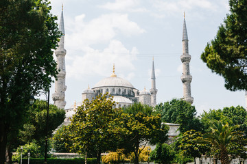 The world-famous Blue Mosque in Istanbul is also called Sultanahmet. Turkey.