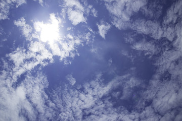 The vast blue sky and the sky in the sky are clouds.