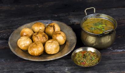 Indian Cuisine Dal Baati