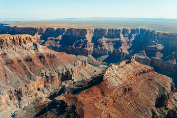 amazing view of grand canyon national park from air
