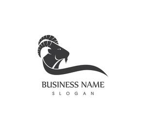 Goat Head Silhouette Logo