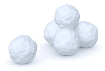 Snowballs heap and one snowball
