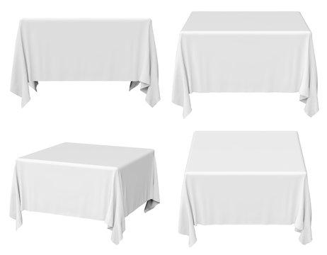 Square tablecloth set