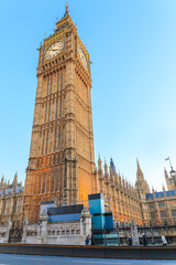 LONDON – Big Ben clock tower London, isolated against sky, vertical, London is The most visited cities around the world.