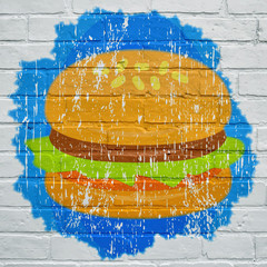 Street art. Hamburger