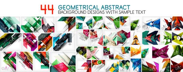 Geometric abstract backgrounds Fotoväggar
