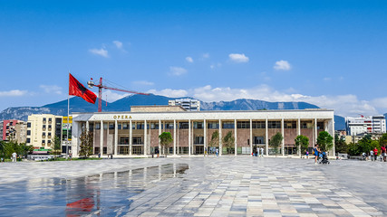 The National Theatre of Opera and Ballet of Albania in Tirana.